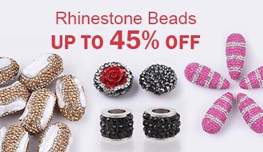 Rhinestone Beads Up to 45% OFF