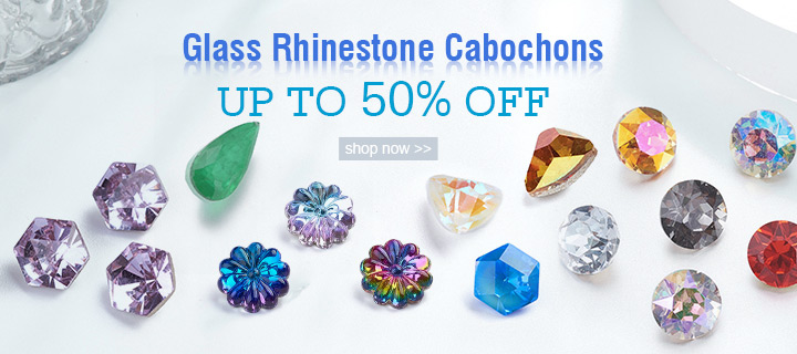 Glass Rhinestone Cabochons  Up to 50% OFF