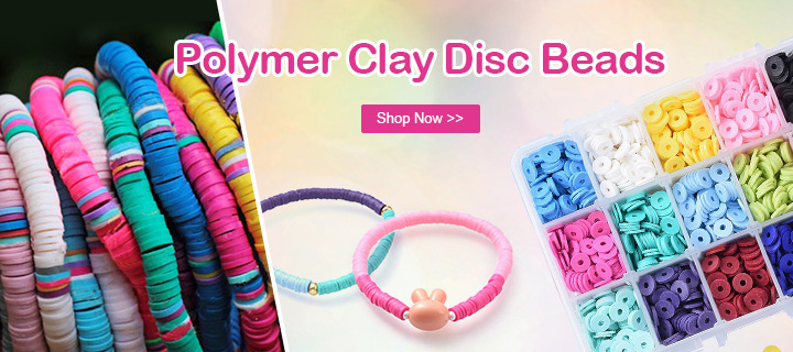 Polymer Clay Disc Beads