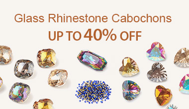 Glass Rhinestone Cabochons  Up to 40% OFF