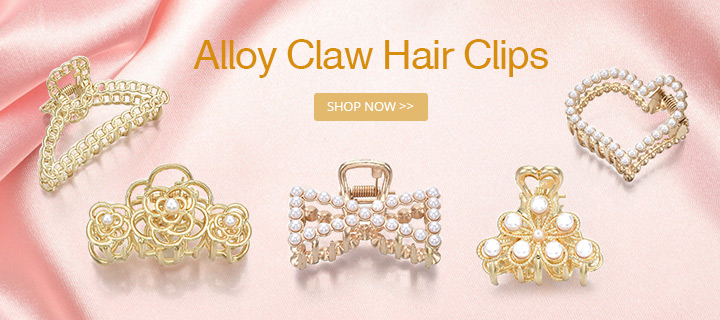 Alloy Claw Hair Clips