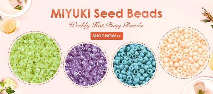MIYUKI Seed Beads Weekly Hot Pony Beads Shop Now