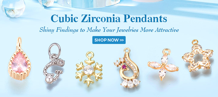 Cubic Zirconia Pendants Shiny Findings to Make Your Jewelries More Attractive Shop Now