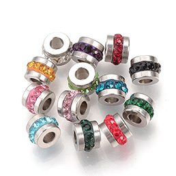 Metal Rhinestone Beads