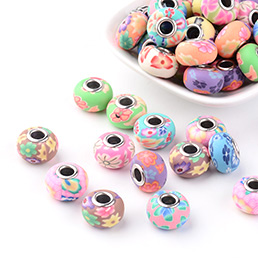 Polymer Clay European Beads