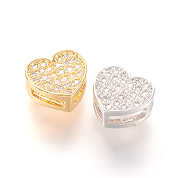 Heart Slide Charms