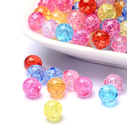 Crackle Acrylic Beads