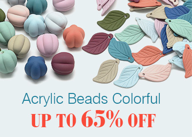 Acrylic Beads Colorful Up to 65% OFF