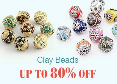 Clay Beads Up to 80% OFF