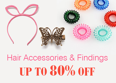 Hair Accessories & Findings Up to 80% OFF