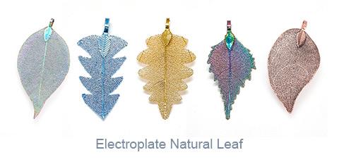 Electroplate Natural Leaf