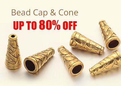 Bead Cap & Cone Up to 80% OFF