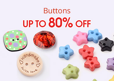 Buttons Up to 80% OFF