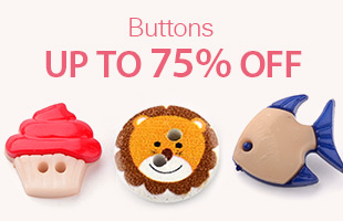Buttons Up To 75% OFF