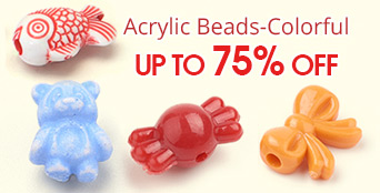 Acrylic Beads-Colorful Up To 75% OFF