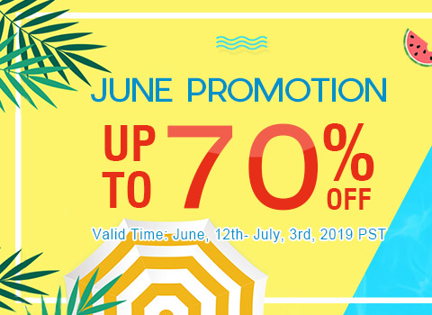 June Promotion Up to 70% OFF