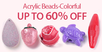 Acrylic Beads-Colorful Up to 60% OFF