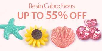 Resin Cabochons Up to 55% OFF