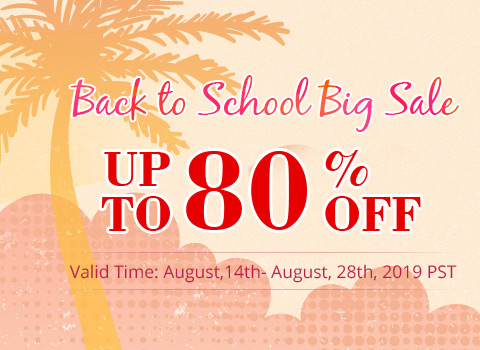 Back to School Big Sale Up to 80% OFF