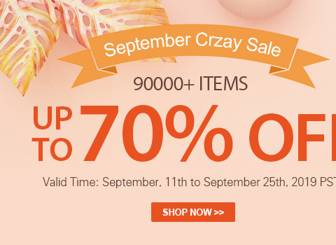 September Crzay Sale 90000+ Items Up to 70% OFF