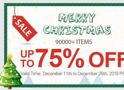 Sale Merry Christmas 90000+ Items Up To 75% OFF