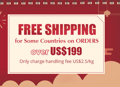 FREE SHIPPING for Most Countries on Orders over US $349
