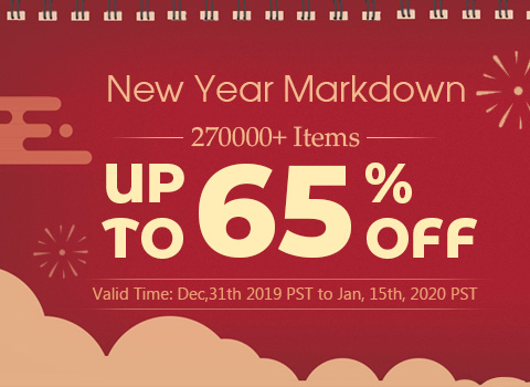 New Year Markdown 270000+ Items Up to 65% OFF