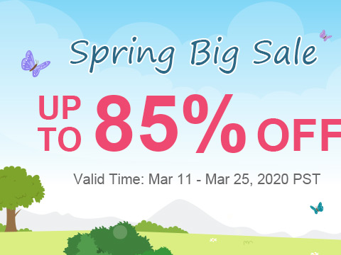 Spring Big Sale Up To 85% OFF