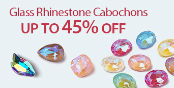 Glass Rhinestone Cabochons Up to 45% OFF