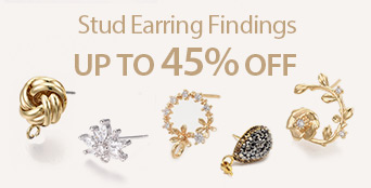 Stud Earring Findings Up to 45% OFF