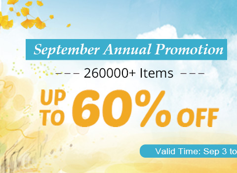 September Annual Promotion 260000+ Items Up to 60% OFF