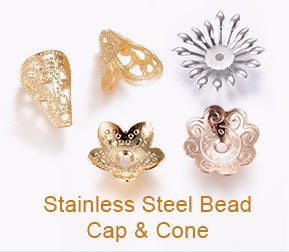 Stainless Steel Bead Cap & Cone