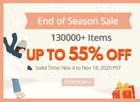 End of Season Sale 130000+ Items Up to 55% OFF