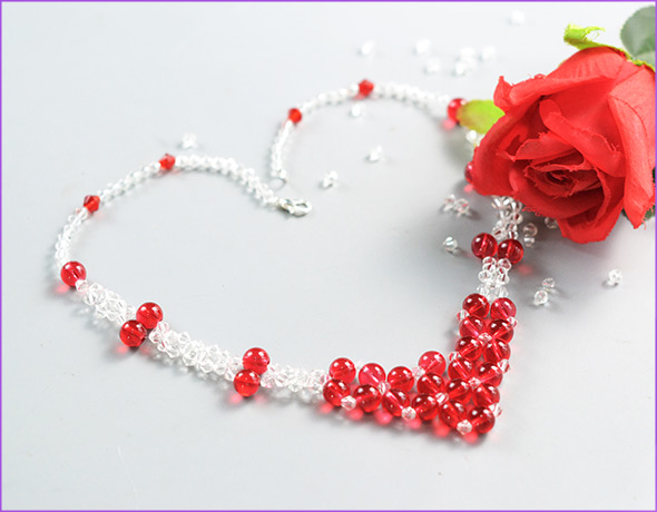 Crystal Beaded Love Necklace