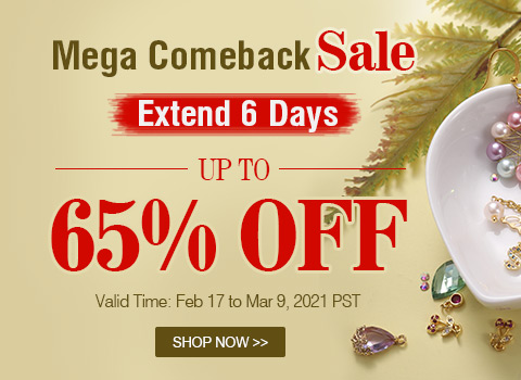 Mega Comeback Sale Up To 65% OFF