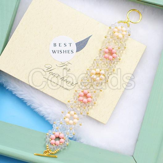 Flower Pattern Beaded Bracelet