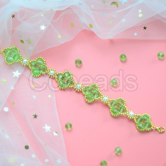 Four-leaved Clover Crystal Bracelet