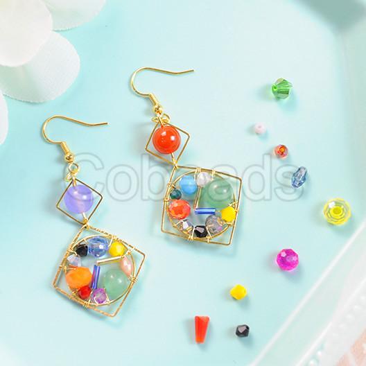 Geometric Asymmetric Earrings