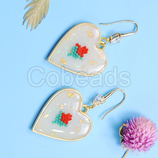 Gorgeous Heart Resin Earrings