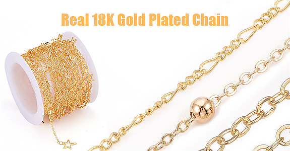 Real 18K Gold Plated Chain