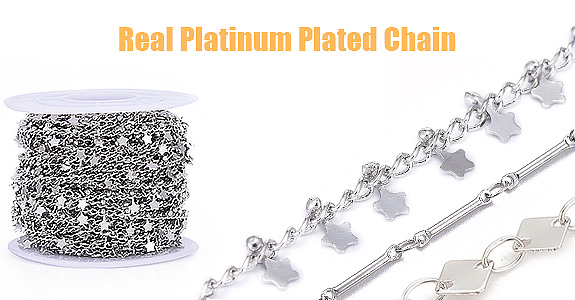Real Platinum Plated Chain