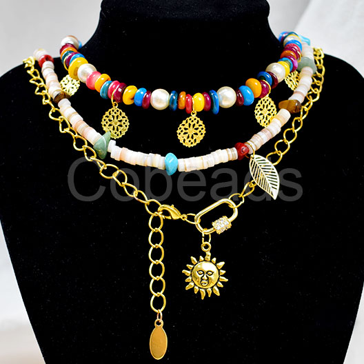Hawaiian Style Three-Tiered Necklace