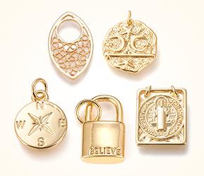 Brass Charms & Pendants