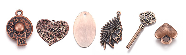 Red Copper Charms
