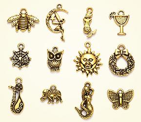 Tibetan Style Charms & Pendants