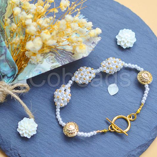 Ball Shaped Pearl Beaded Bracelet