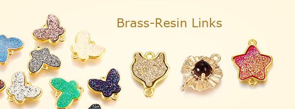 Brass-Resin Links