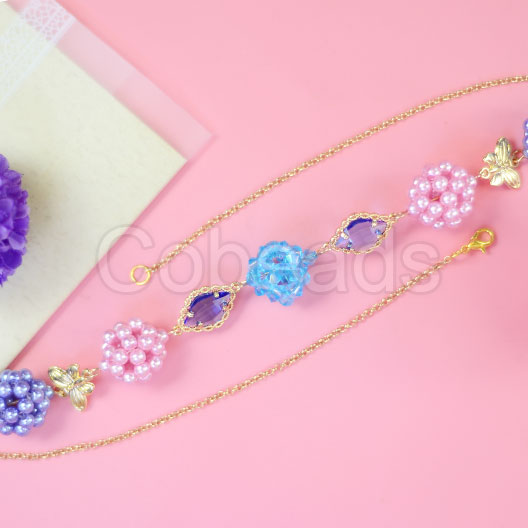 Adorable Ball Shape Beaded Bracelet with Beautiful Glass Pearl Beads