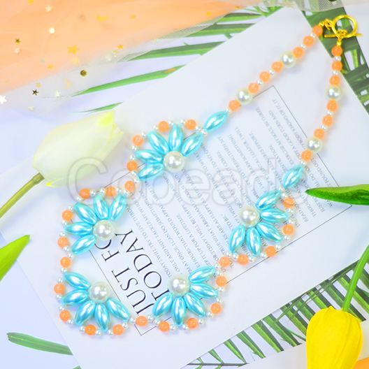 Flower Shaped Pearl Necklace