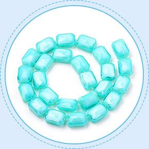 Imitation Jade Glass Beads